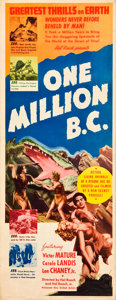 "Movie Posters:Fantasy, One Million B.C. (United Artists, 1940). Insert (14"" X 36"").. ..."