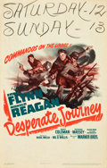 "Movie Posters:War, Desperate Journey (Warner Brothers, 1942). Window Card (14"" X 22"").. ..."