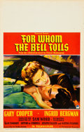 """Movie Posters:Drama, For Whom the Bell Tolls (Paramount, 1943). Window Card (14"""" X22"""").. ..."""