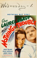 """Movie Posters:Comedy, Nothing but Trouble (MGM, 1944). Window Card (14"""" X 22"""").. ..."""