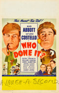 "Movie Posters:Comedy, Who Done It? (Universal, 1942). Window Card (14"" X 22"").. ..."