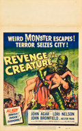 """Movie Posters:Horror, Revenge of the Creature (Universal International, 1955). Autographed Window Card (14"""" X 22"""").. ..."""