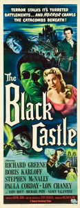 "Movie Posters:Mystery, The Black Castle (Universal International, 1952). Insert (14"" X36"").. ..."