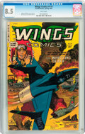 Golden Age (1938-1955):War, Wings Comics #119 (Fiction House, 1953) CGC VF+ 8.5 White pages....