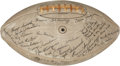 Football Collectibles:Balls, 1937-38 Green Bay Packers Team Signed Football with Lambeau....