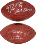 Football Collectibles:Balls, Jason Witten and Marion Barber Signed Footballs Lot of 2....