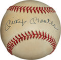 "Baseball Collectibles:Balls, Mickey Mantle Single Signed ""Upper Deck Authenticated"" Baseball...."