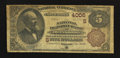 National Bank Notes:Kentucky, Owensboro, KY - $5 1882 Brown Back Fr. 477 The National DepositBank Ch. # (S)4006. ...
