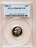 Proof Roosevelt Dimes: , 1982-S 10C PR69 Deep Cameo PCGS. PCGS Population (2543/111). NGCCensus: (404/59). Numismedia Wsl. Price for problem free ...