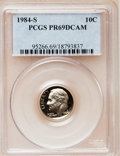 Proof Roosevelt Dimes: , 1984-S 10C PR69 Deep Cameo PCGS. PCGS Population (2494/154). NGCCensus: (377/56). Numismedia Wsl. Price for problem free ...