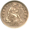 Seated Quarters, 1856-S 25C XF45 PCGS. CAC....