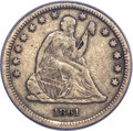 Seated Quarters, 1861-S 25C VF25 PCGS. CAC....