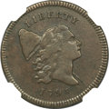 Half Cents, 1795 1/2 C Lettered Edge AU50 NGC. C-1, B-1, R.2....