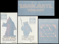 """The Star Wars Trilogy (20th Century Fox, 1997). Special Edition Decals (4) (6.75"""" X 16.25"""", 9.5"""" X 11.5&q..."""