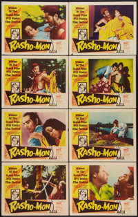 "Rashomon (RKO, 1952). Lobby Card Set of 8 (11"" X 14""). Foreign. ... (Total: 8 Items)"
