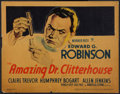 "Movie Posters:Crime, The Amazing Dr. Clitterhouse (Warner Brothers, 1938). Title LobbyCard (11"" X 14""). Crime.. ..."