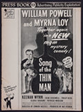 "Movie Posters:Mystery, Song of the Thin Man (MGM, 1947). Uncut Pressbook (14 Pages, 11"" X15""). Mystery.. ..."