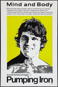 """Pumping Iron (Cinema 5, 1977). One Sheet (27"""" X 41"""") """"Mind and Body"""" Style. Documentary"""