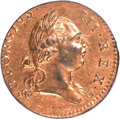Colonials, 1773 1/2P Virginia Halfpenny, Period MS64 Red PCGS. CAC. Newman 27-J, W-1585, R.2....