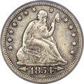Seated Quarters, 1854-O 25C Huge O VF35 PCGS. CAC. Briggs 1-A, FS-501....