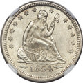 Seated Quarters, 1854 25C Arrows MS65 NGC....