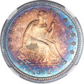 Proof Seated Quarters, 1891 25C PR67 ★ Cameo NGC....
