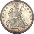 Seated Half Dollars, 1855 50C Arrows MS64 PCGS....