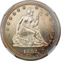 Proof Seated Quarters, 1882 25C PR67 NGC....