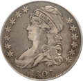 Early Half Dollars, 1807 50C Large Stars, 50 Over 20 VF20 PCGS. CAC. O-111a, R.5....