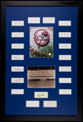 Baseball Collectibles:Others, 1961 New York Yankees Team Signed Index Card Display....