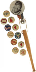 Baseball Collectibles:Pins, 1940's and 1950's Baseball Pinback Buttons Lot of 12....
