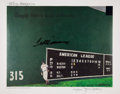 Baseball Collectibles:Photos, Ted Williams Signed Lithograph....
