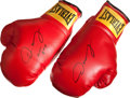 Boxing Collectibles:Autographs, Oscar De La Hoya Signed Boxing Gloves....