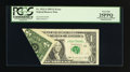 Error Notes:Foldovers, Fr. 1922-J $1 1995 Federal Reserve Note. PCGS Very Fine 25PPQ.. ...
