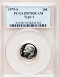 Proof Roosevelt Dimes: , 1979-S 10C Type One PR70 Deep Cameo PCGS. PCGS Population (264).NGC Census: (0). Numismedia Wsl. Price for problem free N...