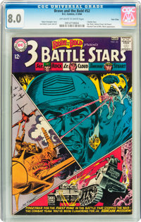 The Brave and the Bold #52 3 Battle Stars - Twin Cities pedigree (DC, 1964) CGC VF 8.0 Off-white to white pages
