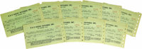 """Donnie Dunagan Pay Stubs From """"Son of Frankenstein."""" Ten RKO Pictures pay stubs, each for the amount of $73.50..."""