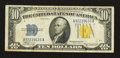 Small Size:World War II Emergency Notes, Fr. 2309 $10 1934A North Africa Silver Certificate. Very Fine.. ...