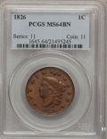 Large Cents, 1826 1C MS64 Brown PCGS. N-5, High R.2....