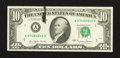 Error Notes:Ink Smears, Fr. 2024-A $10 1977A Federal Reserve Note. Choice CrispUncirculated.. ...