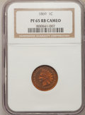 Proof Indian Cents, 1869 1C Cameo PR65 Red and Brown NGC....