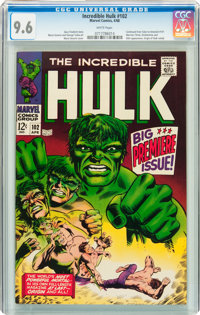 The Incredible Hulk #102 (Marvel, 1968) CGC NM+ 9.6 White pages
