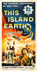 "Movie Posters:Science Fiction, This Island Earth (Universal International, 1955). Three Sheet (41""X 81"").. ..."