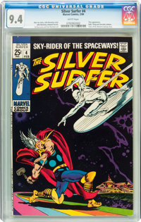 The Silver Surfer #4 (Marvel, 1969) CGC NM 9.4 White pages
