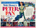 "Movie Posters:Animated, Peter Pan (RKO, 1953). Half Sheet (22"" X 28"").. ..."