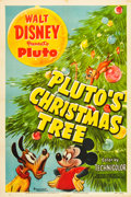 "Movie Posters:Animated, Pluto's Christmas Tree (RKO, 1952). One Sheet (27"" X 41"").. ..."