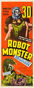 "Movie Posters:Science Fiction, Robot Monster (Astor Pictures, 1953). Insert (14"" X 36"").. ..."