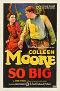 "Movie Posters:Drama, So Big (First National, 1924). One Sheet (27"" X 41"").. ..."
