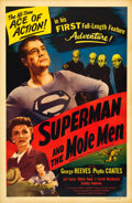 """Movie Posters:Action, Superman and the Mole Men (Lippert, 1951). One Sheet (27"""" X 41"""").. ..."""