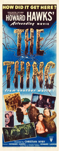 """The Thing from Another World (RKO, 1951). Insert (14"""" X 36"""")"""